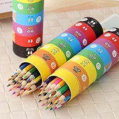 铅笔彩笔纸筒